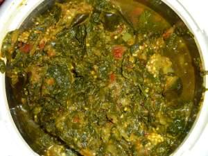 Spinach aubergine