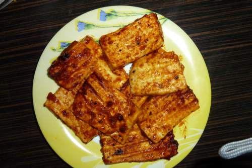 Grilled cottage cheese
